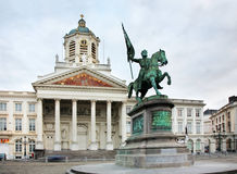 Statue of Godfried of Bouillon in Brussels. Belgium Stock Photography