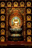 The statue of Buddha in Chinese Buddha Tooth Relic Temple, Singapore. stock photos