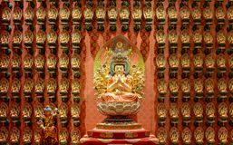 The statue of Godness in Chinese Buddha Tooth Relic Temple, stock photography