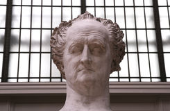 Statue of goethe. In museum orsay, sculpture Stock Image