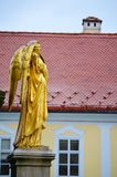 Golden Angel  Statue  in Zagreb ,Croatia Royalty Free Stock Photo