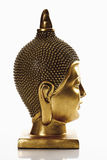 Statue of golden buddha head Stock Image
