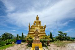 Statue golden buddha place of worship Royalty Free Stock Photo