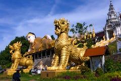 Statue golden Buddha sleep Royalty Free Stock Photos