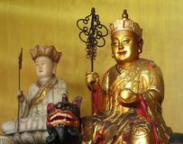 Statue of Golden Buddha in Taiwan Royalty Free Stock Photo