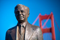 Statue at Golden Gate Bridge Stock Photography