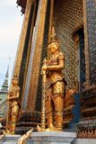 Guard near entrance to the Phra Mondop royalty free stock images