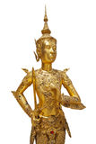 Statue of a golden kinnara Royalty Free Stock Photos