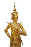 Statue of a golden kinnara Royalty Free Stock Photos