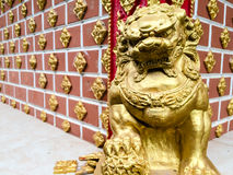 Statue of golden lion Royalty Free Stock Image