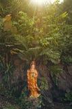 Statue on Golden mountain in Bangkok Royalty Free Stock Photos