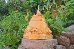 Statue on Golden mountain in Bangkok Stock Photography