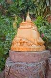 Statue on Golden mountain in Bangkok Stock Photos