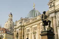 Statue of Gottfried Semper. Standing in the Center of Dresden Stock Photography