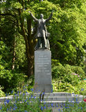 A statue of Governor General Stanley who dedicated the park. Stanley Park is a living monument to Governor General Stanley who loved the outdoors and remained a royalty free stock image