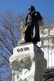Statue of Goya Royalty Free Stock Photography