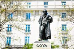 Statue of Goya Royalty Free Stock Image