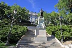 Statue of Goya near Prado museum in Madrid, Spain Royalty Free Stock Images