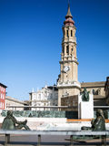 Statue of Goya in Zaragoza Stock Photo