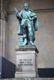 Statue of Graf V Tilly at the Odeonsplatz - Feldherrnhalle in Mu Royalty Free Stock Photos