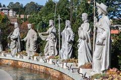 Statue Gramado Brasile dei san Fotografia Stock Libera da Diritti