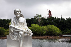 Statue at Grand Bassin lake Royalty Free Stock Photography