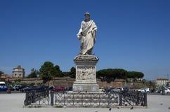 Statue of Grand Duke Leopold II in Piazza della Repubblica in Livorno,Italy Stock Image