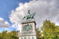 Statue of Grand Duke William II. Of the Netherlands in Luxembourg Stock Photography