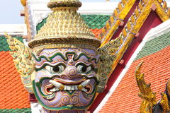Statue at the Grand Palace, Bangkok (Close-Up Details) Stock Photo
