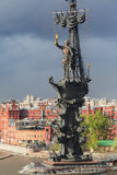 statue grande de peter Moscou, Russie Image libre de droits