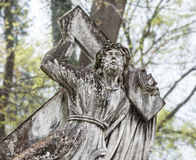 Statue on grave in the old cemetery Royalty Free Stock Images