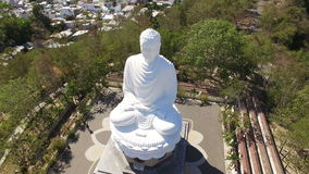 Statue of the great buddha in Asia stock footage