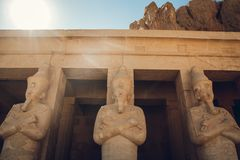 Statue of the great egyptian Pharaoh in luxor temple ,Egypt royalty free stock image