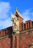 Statue of a great komtur of Friedrich von Zollern on Friedland Gates of Konigsberg Stock Photos