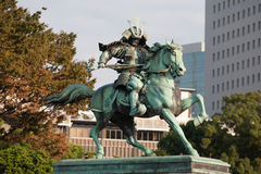 Statue of the great samurai Kusunoki Masashige Royalty Free Stock Photography