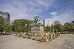 Statue of the great samurai Kusunoki Masashige at the East Garde Royalty Free Stock Photos