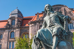 Statue of great scientist Otto Gvericke,  Magdeburg, Germany Stock Photography