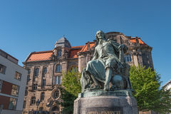 Statue of great scientist Otto Gvericke,  Magdeburg, Germany Royalty Free Stock Photos