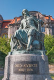 Statue of great scientist Otto Gvericke,  Magdeburg, Germany Stock Photo