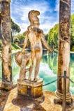Statue grecque d'Ares, villa intérieure Adriana, Tivoli, Italie photographie stock libre de droits
