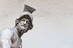 Statue of greek hero Menelaus holding Patroclus in Florence Royalty Free Stock Image