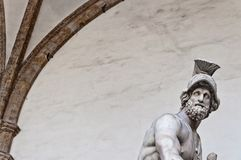 Statue of greek hero Menelaus holding Patroclus in Florence Royalty Free Stock Photo