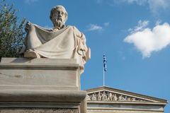 Statue of Greek philosopher Plato in Athens. A statue of Plato in Athens Greece Stock Photography