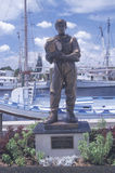 Statue of Greek sponge diver. In antique diving suit in Tarpon Springs FL royalty free stock photos