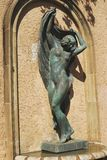 Statue in Greek Theatre gardens. Barcelona. Spain Stock Image