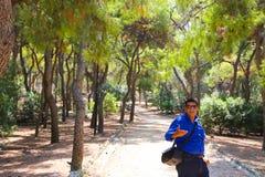 Athens Park - Greece. Statue in Green Garden - Athens, Greece Stock Photos