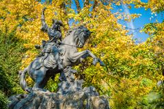 Statue in Grenoble Royalty Free Stock Images