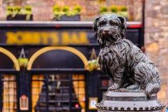 The statue of Greyfriars Bobby. In Edinburgh Royalty Free Stock Photo
