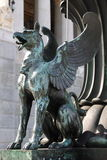 Statue of a griffin Stock Images