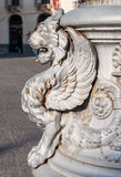 Statue of a Griffin on a street lamp in Catania, Sicily Stock Images